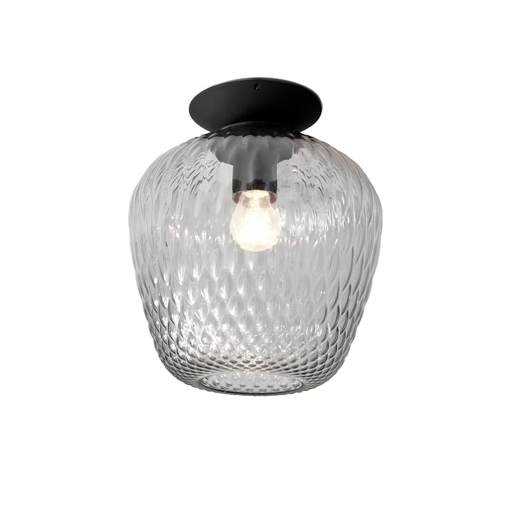 Blown SW5 ceiling light from & tradition - Ø 28 x H 34 cm, silver / black
