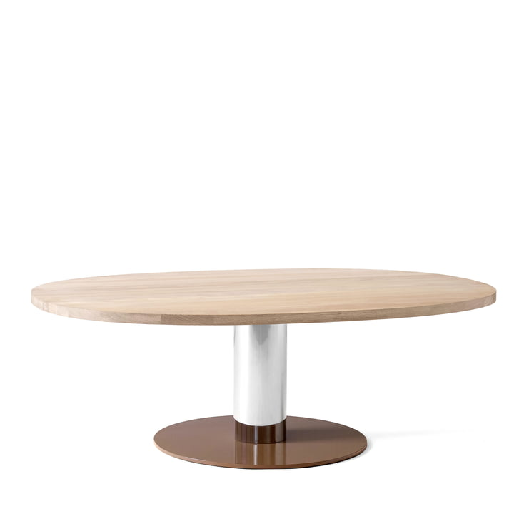 Mezcla JH21 coffee table by &tradition - 90 x 120 cm, oak / chrome / clay
