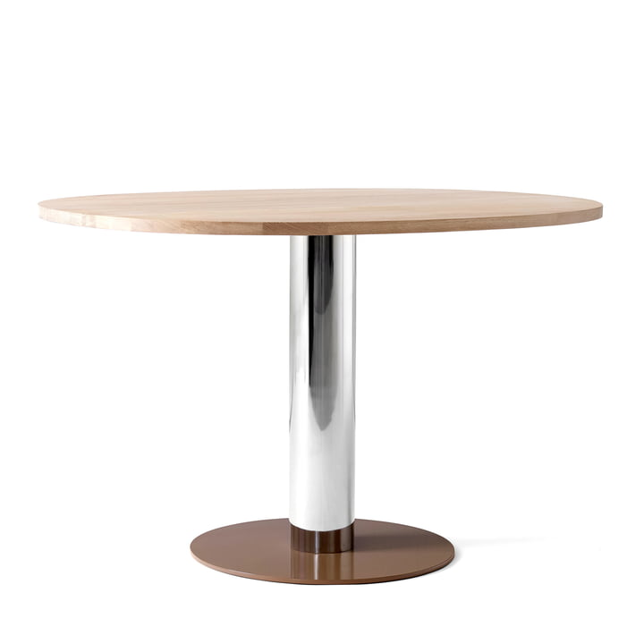 Mezcla JH22 Dining table by & tradition - H 73 cm, 90 x 120 cm, oak / chrome / clay