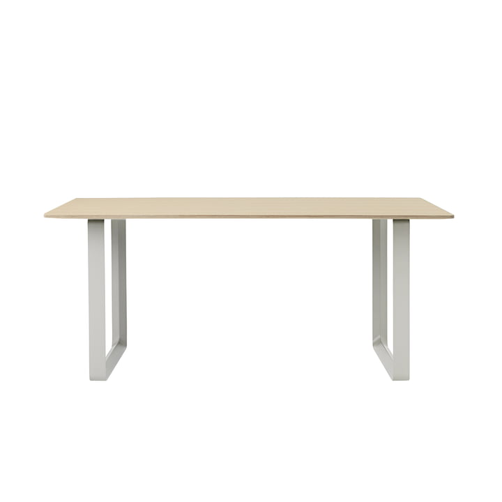 70/70 Dining table 170 x 85 cm by Muuto in oak / grey