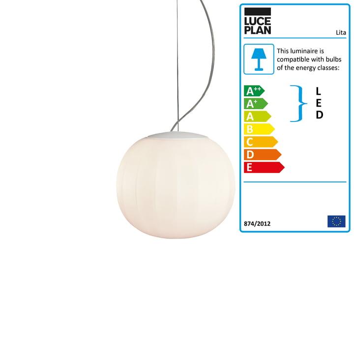 Lita Pendant Lamp, aluminium, white lacquered, Ø 14 cm