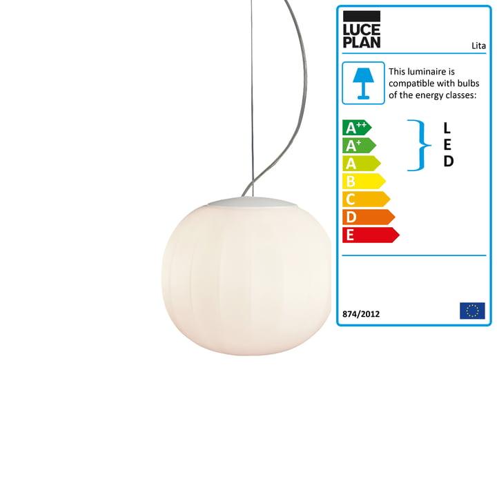 Lita Pendant Lamp, aluminium, white lacquered, Ø 18 cm