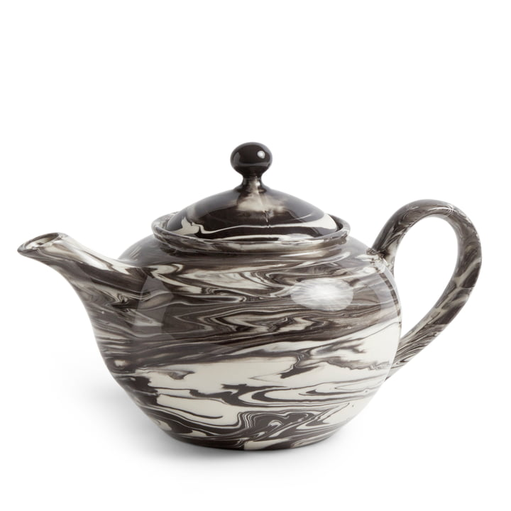 Marbled Teapot 0,8 l from Hay in black