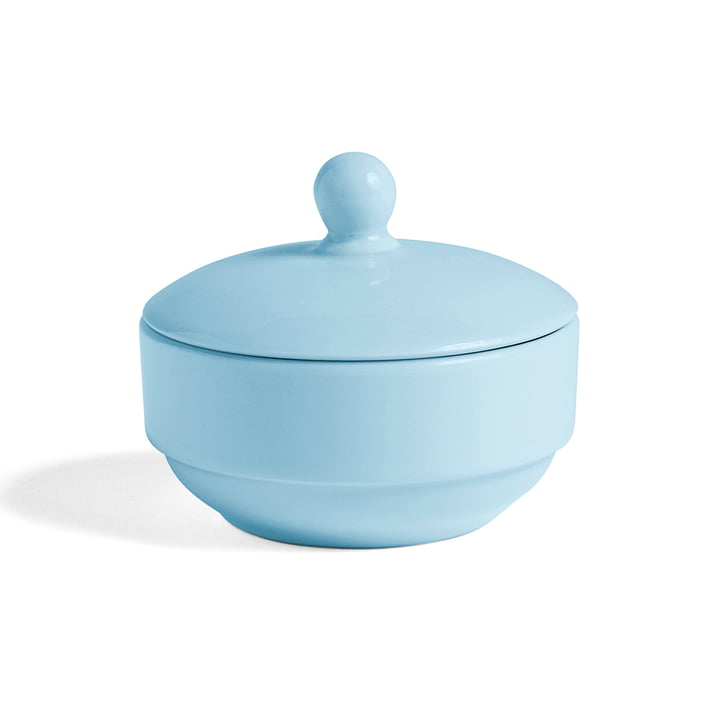 Rainbow Sugar Bowl by Hay in Light Blue