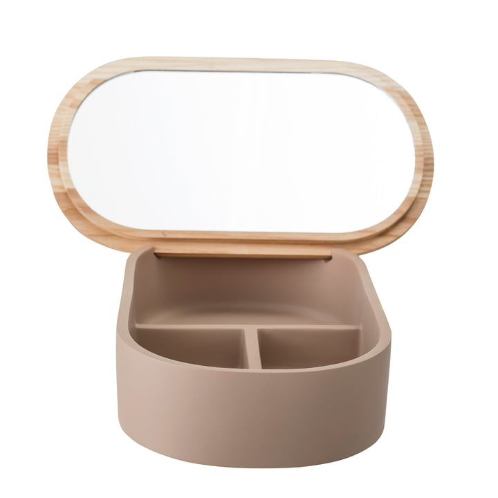 Storage box with mirror 23 x 1 3. 5 cm from Bloomingville in brown
