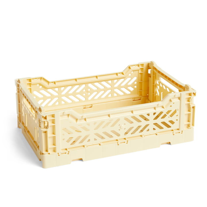 Colour Crate Basket S, 26,5 x 17 cm in Light Yellow