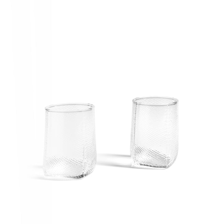 Tela Votive Tealight Holder by Hay in clear