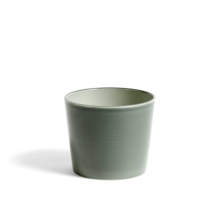 Botanical Family Cachepot M from Hay in dusty green