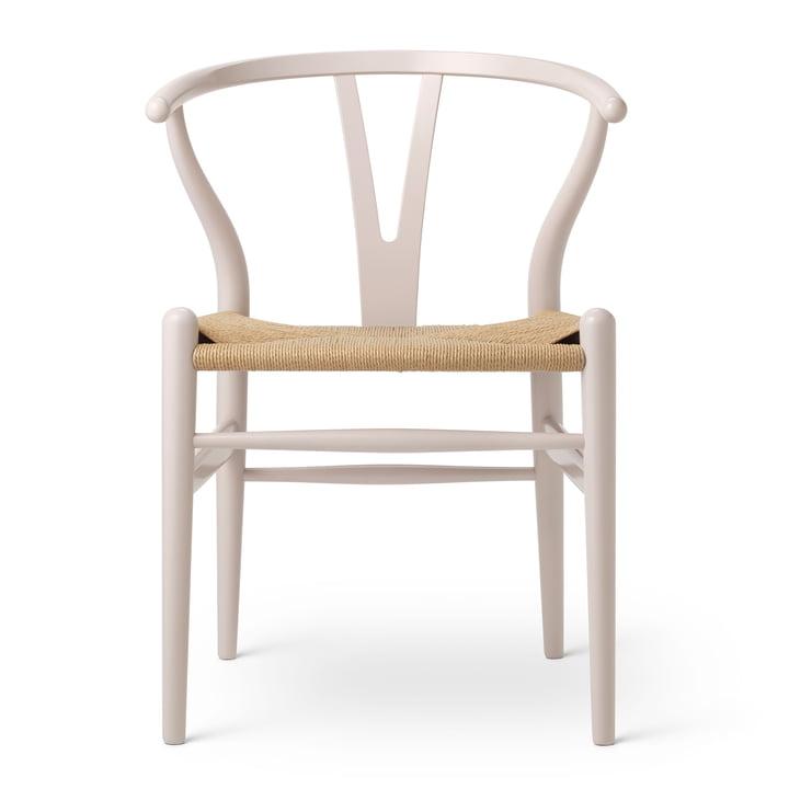 CH24 Wishbone Chair by Carl Hansen in Beech Rosy Blush / Natural Wickerwork (Birthday Edition)