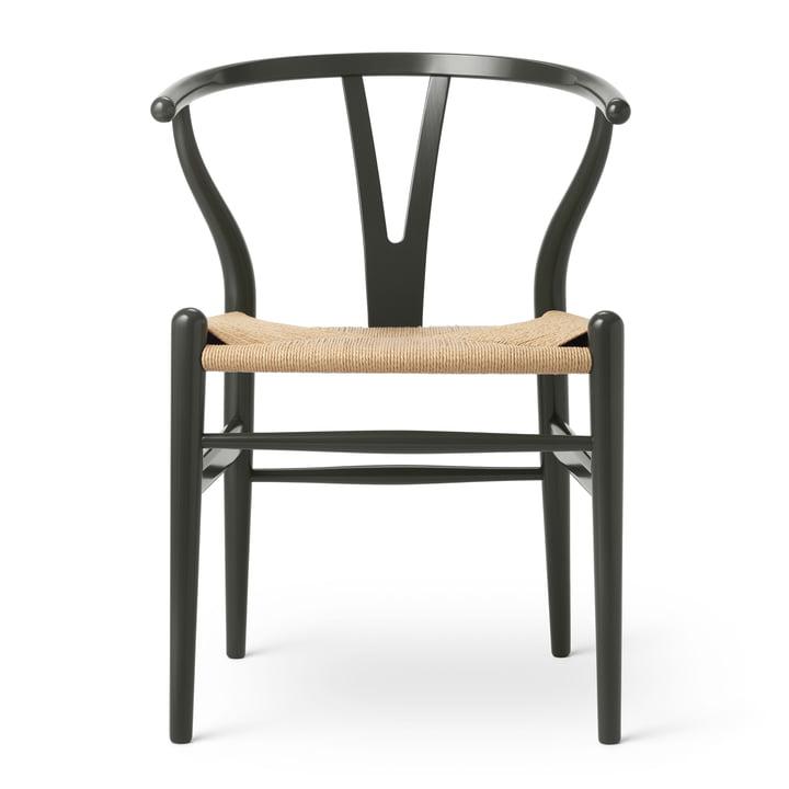 CH24 Wishbone Chair by Carl Hansen in Beech Deep Olive (Birthday Edition)