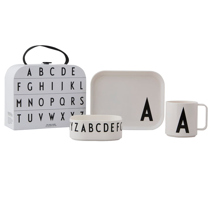 Children's Tableware Set incl. Case by Design Letters, A