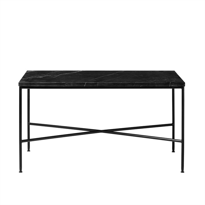 Planner coffee table by Fritz Hansen - 75 x 45 cm, marble top graphite gray