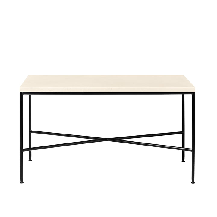 Planner coffee table by Fritz Hansen - 75 x 45 cm, marble top cream