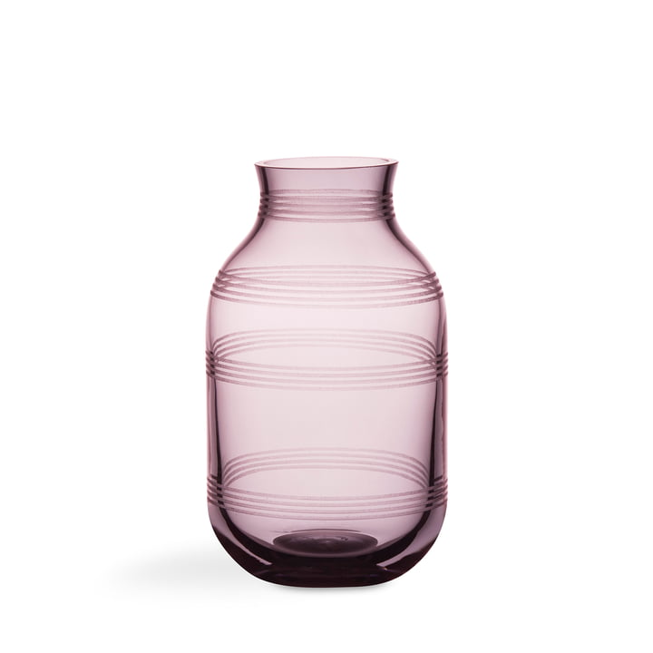 Omaggio Glass Vase by Kähler Desig in Plum Blue