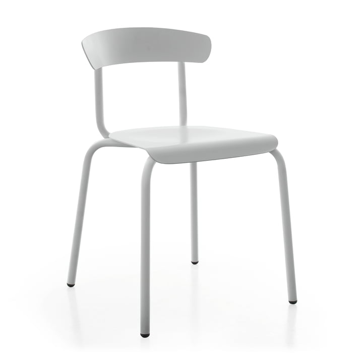 Alu Mito Outdoor Chair in light grey by Conmoto