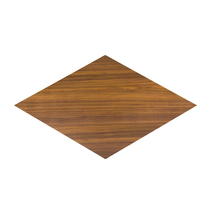 Karo inlay panel in walnut clear varnished by Conmoto