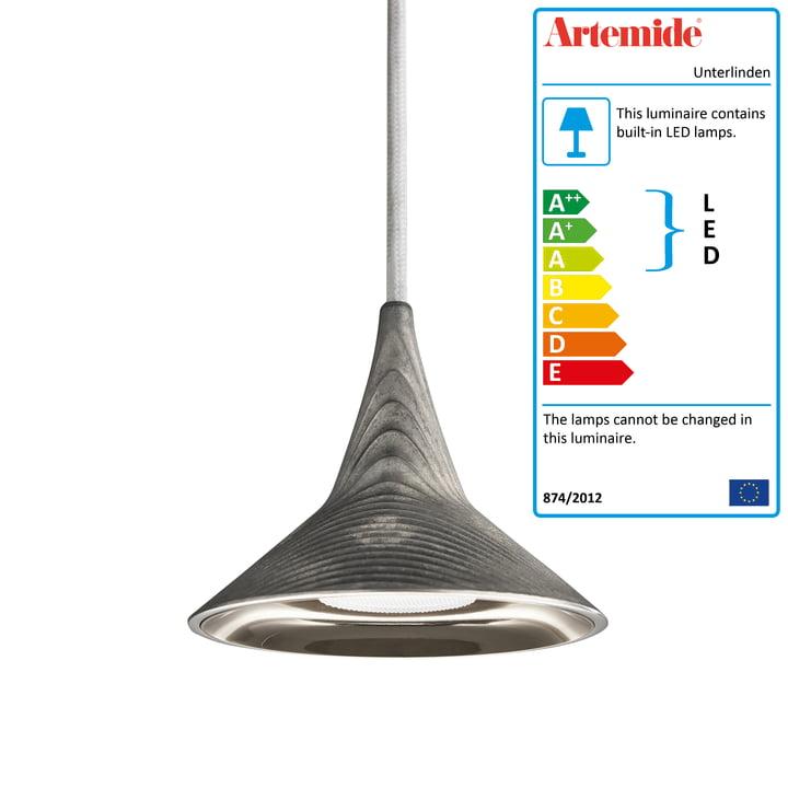 Unterlinden LED pendant lamp by Artemide in aluminum