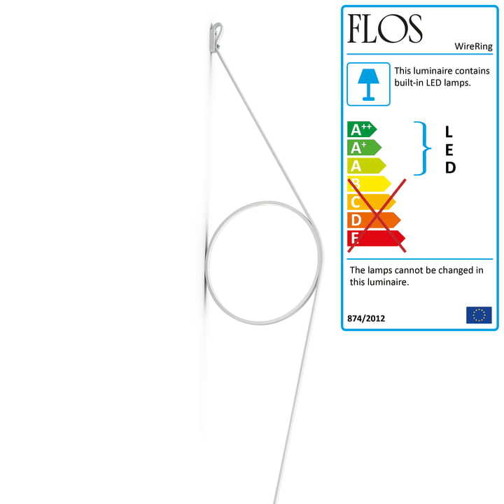 WireRing wall lamp by Flos in white