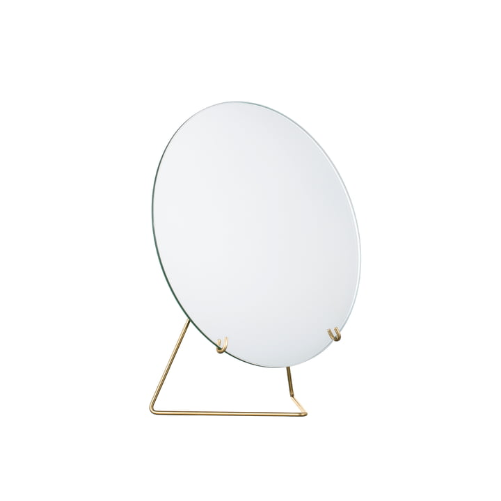 table mirror Ø 20 cm from Moebe in brass