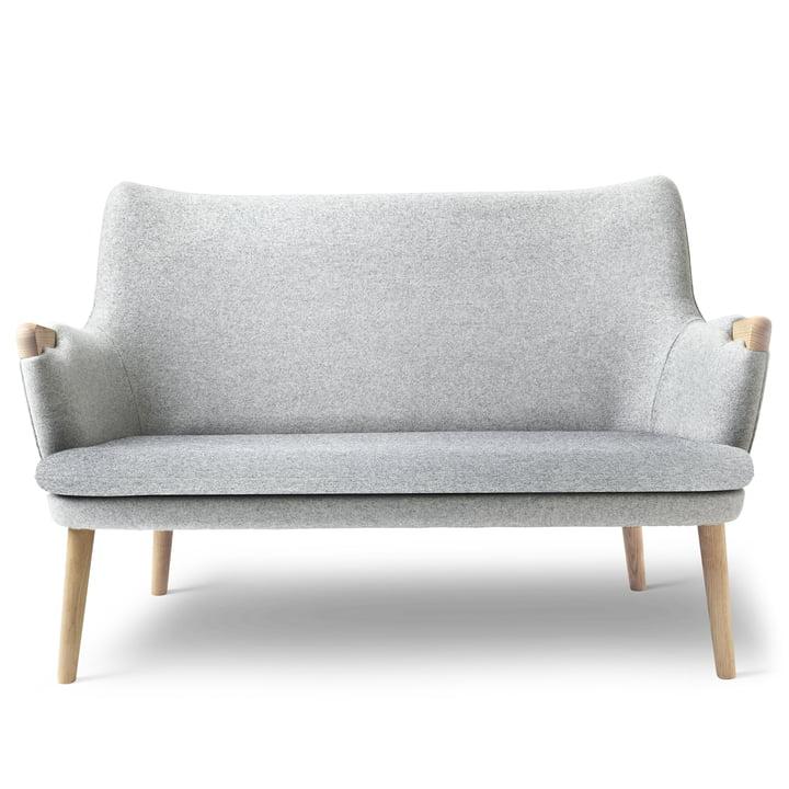 CH72 Sofa by Carl Hansen in oak oiled / grey (Hallingdal 116)