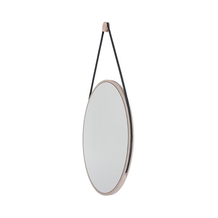 Schneider Mirror of Objekte unserer Tage - 85 x 55 cm, ash oiled / steel bracelet black