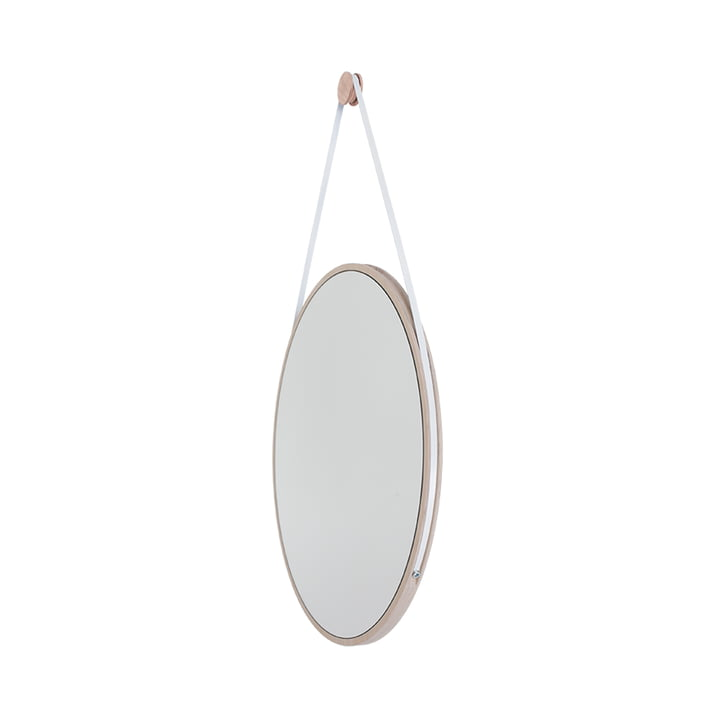Schneider Mirror of Objekte unserer Tage - 85 x 55 cm, ash oiled / steel bracelet white
