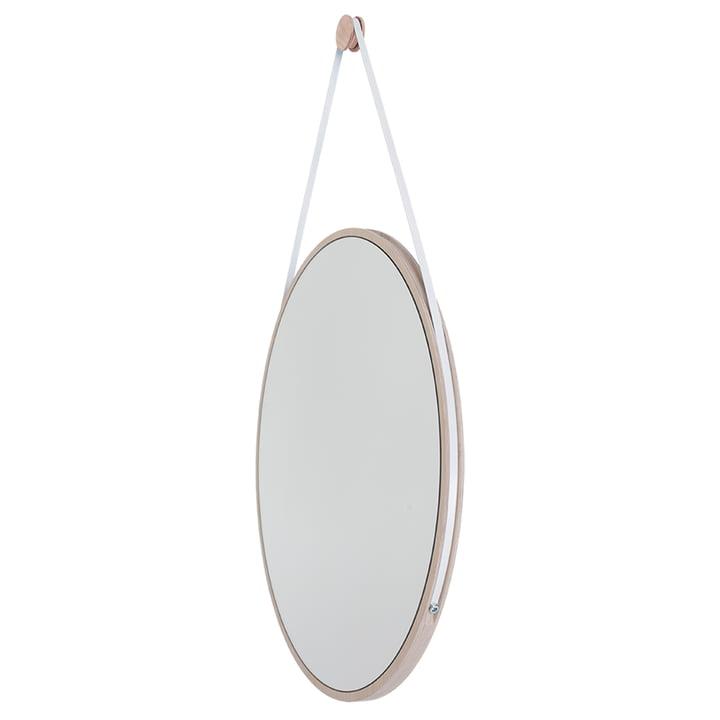 Schneider Mirror of Objekte unserer Tage - 110 x 70 cm, ash oiled / steel bracelet white