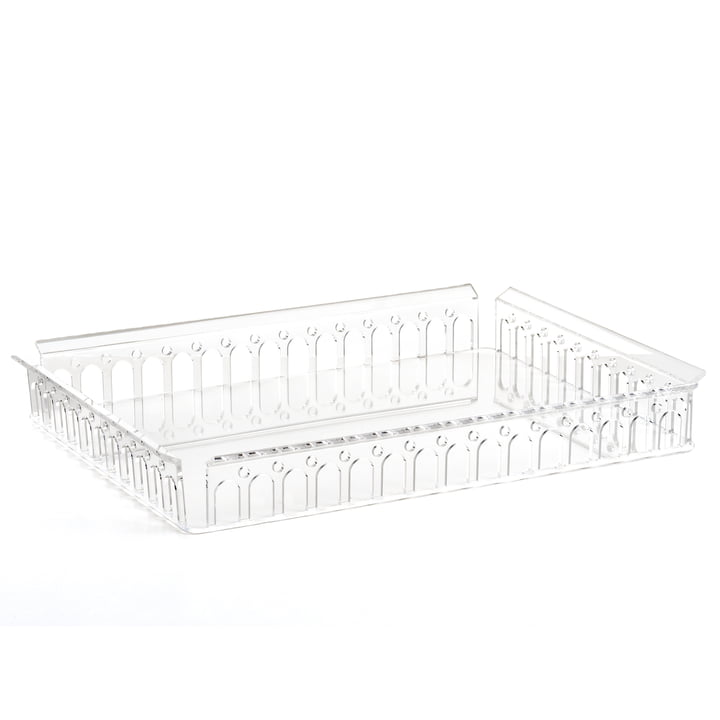 Piazza Tray 48 x 37 cm from Kartell in clear