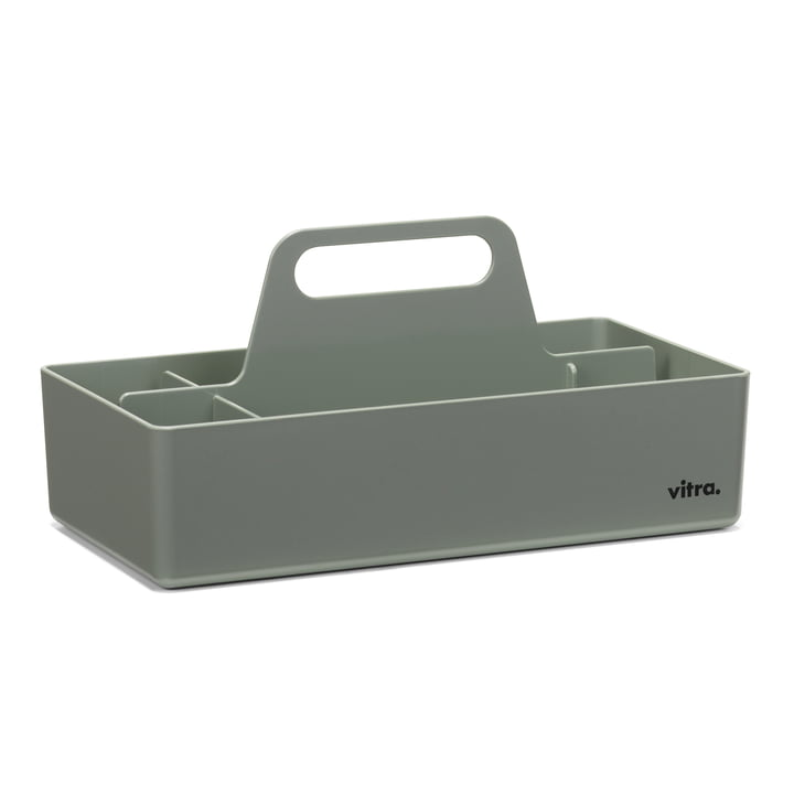 Storage Toolbox from Vitra in moss grey