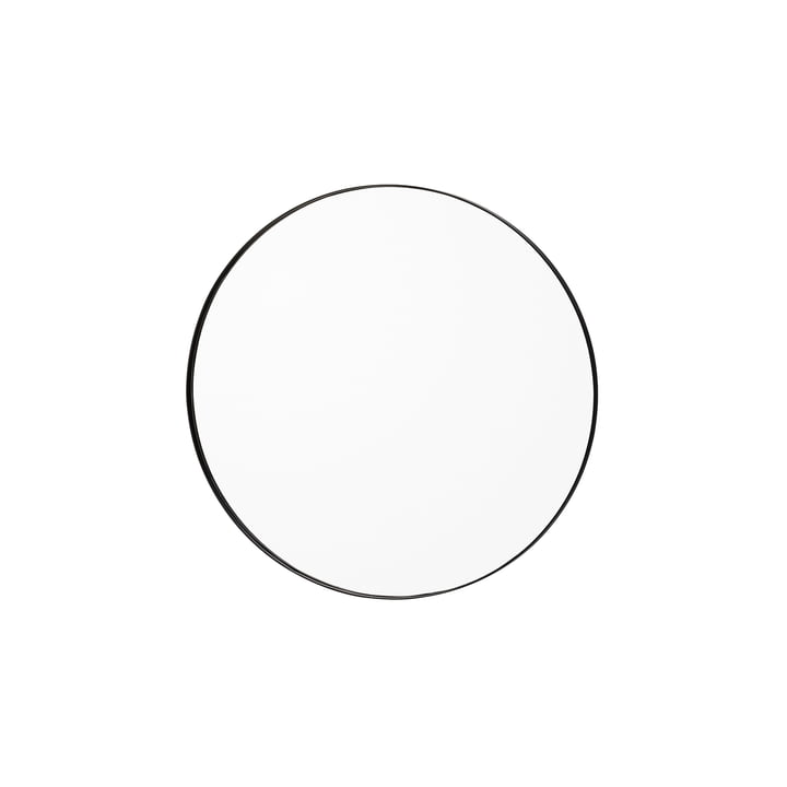 Circum wall mirror small, Ø 70 cm in clear / black from AYTM