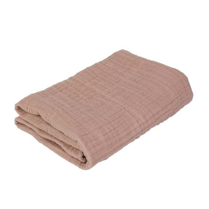 Baby blanket Uni from Sebra in powder pink