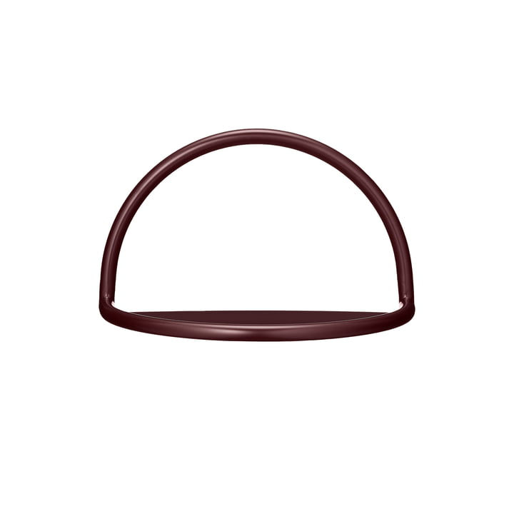 Angui wall shelf small, 39 x 23 cm in bordeaux from AYTM