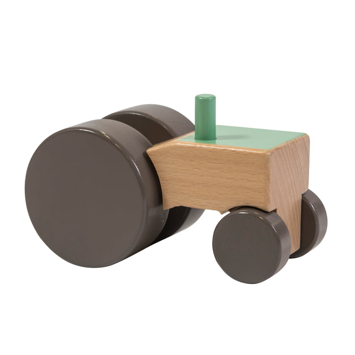 Tractor made of wood from Sebra in green
