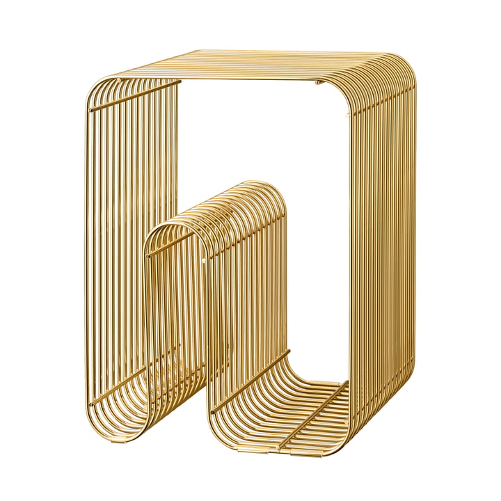 Curva stool in gold by AYTM