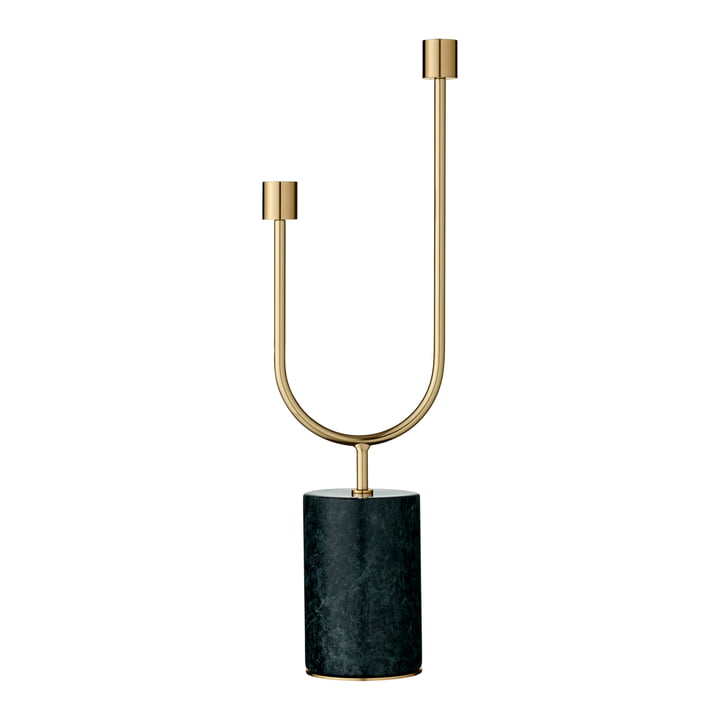 Grasil candlestick, forest / gold by AYTM