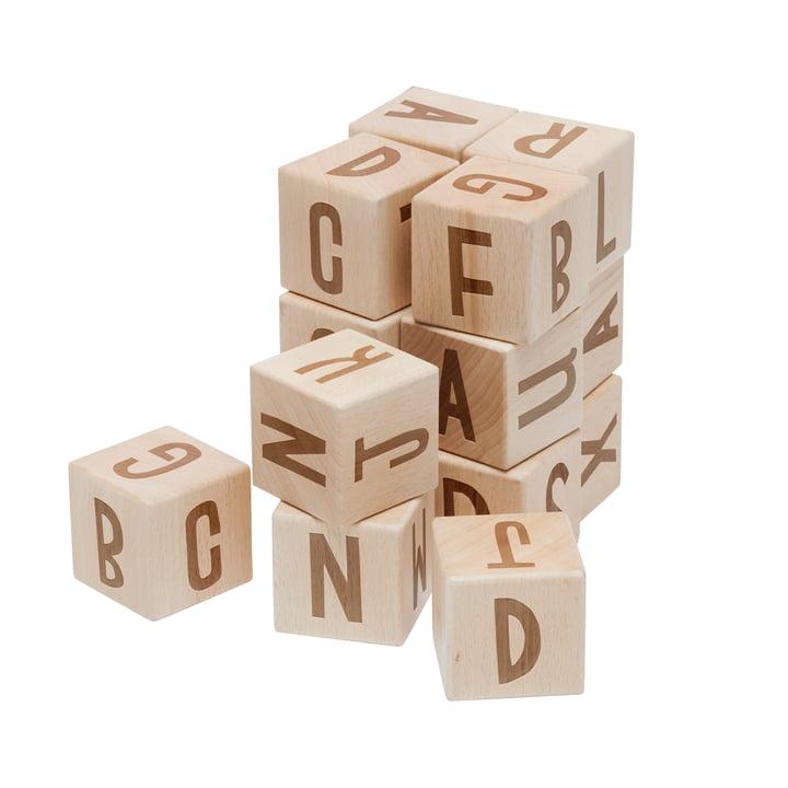 Letter blocks from Sebra in beech