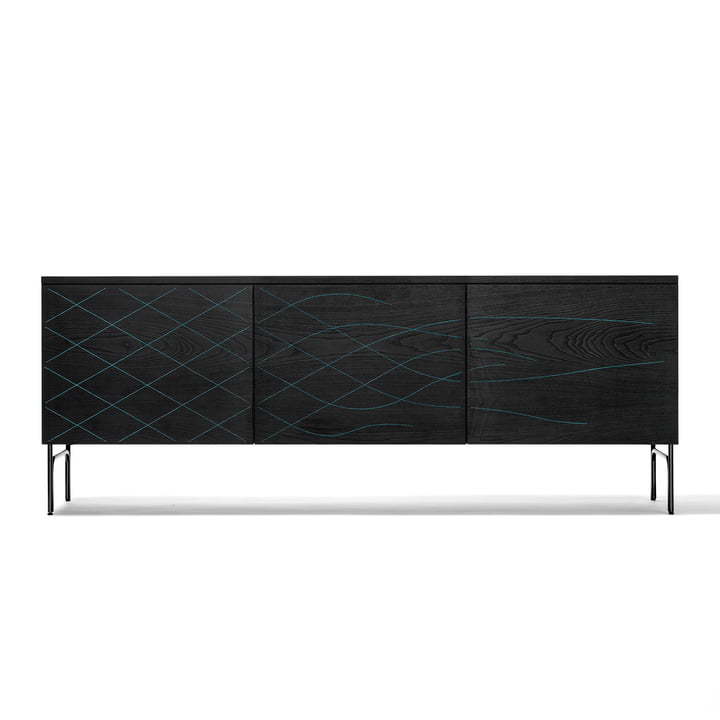 Couture Cabinet from BD Barcelona in black / blue