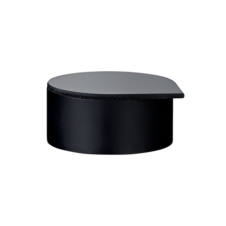 Gutta jewelry box with mirror small in black by AYTM