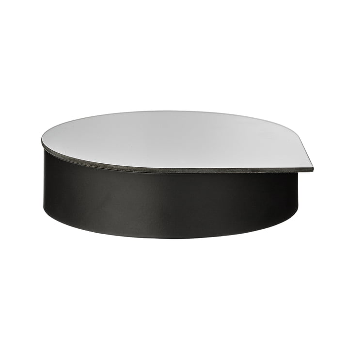 Gutta jewelry box with mirror large in black by AYTM