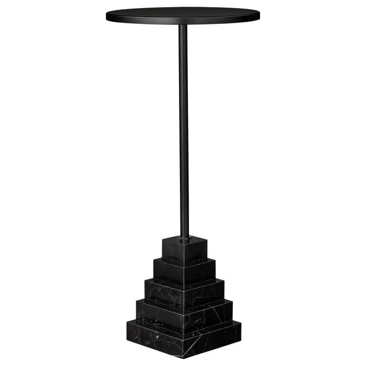 Solum side table high, Ø 32 x H 67 cm, black by AYTM