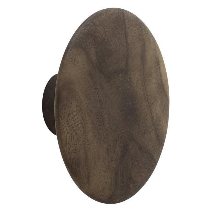 "Wall hook ""The Dots"" single large by Muuto in walnut"