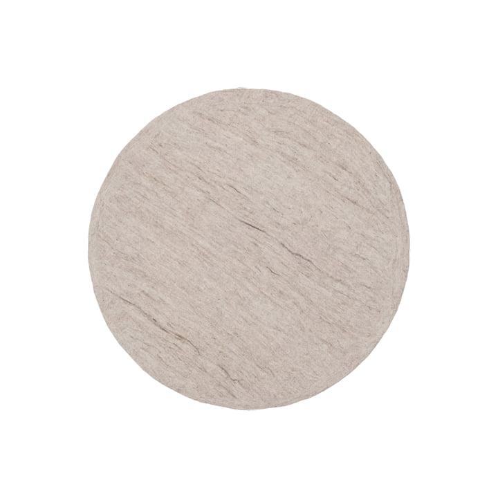 Béla felt carpet by myfelt, Ø 90 cm