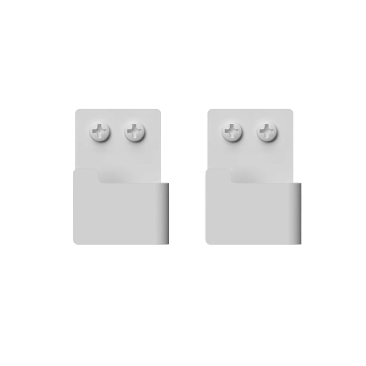 Wall hook set from Nichba Design in white (set of 2)