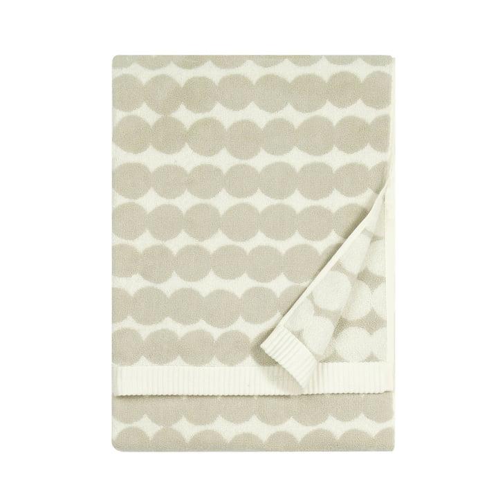Räsymatto bath towel 70 x 150 cm from Marimekko in white / beige