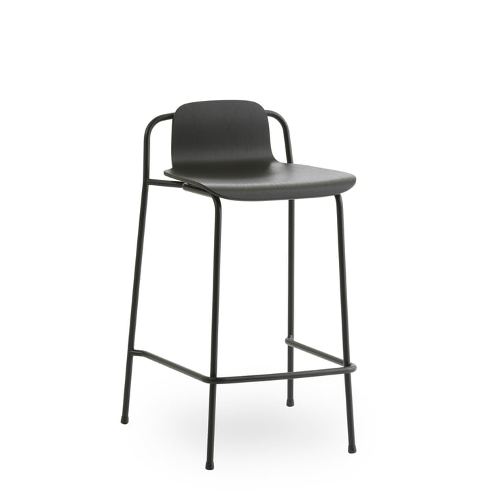 Studio bar stool 65 cm by Normann Copenhagen in black / black
