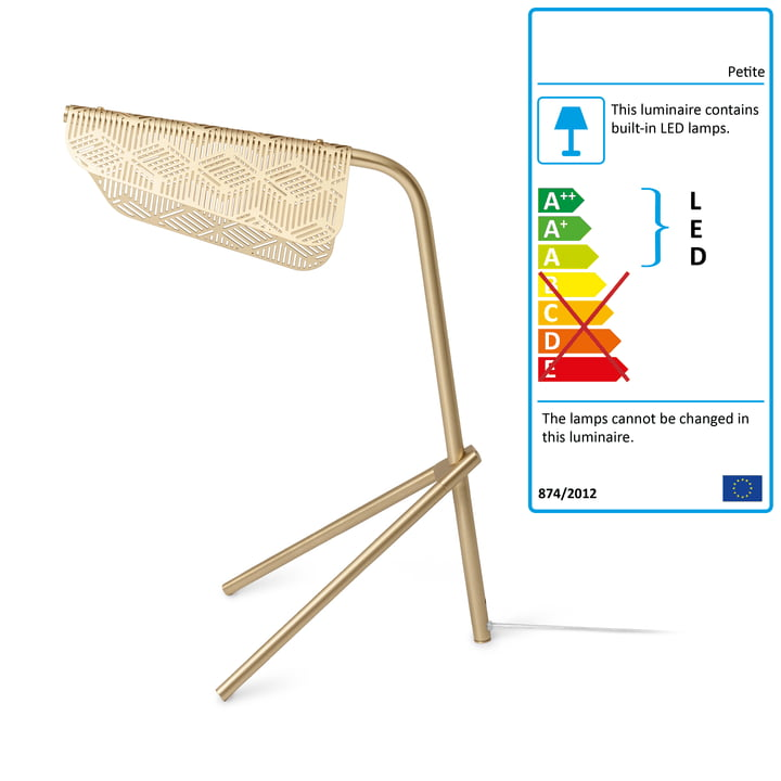 Mediterranea LED table lamp by Petite Friture brushed brass