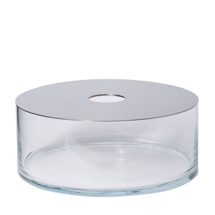 Narciso Vase Pattio in transparent with mirror by Petite Friture
