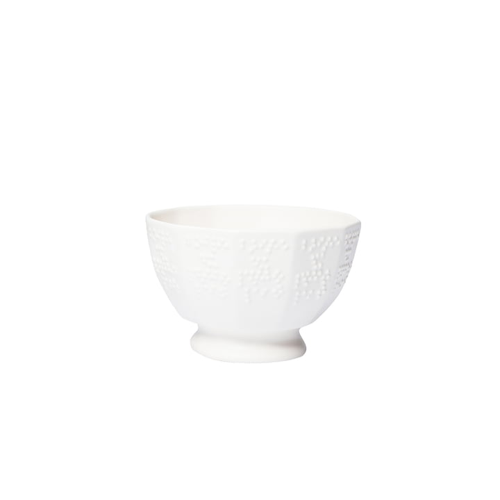 Braille bowls small by Petite Friture Ø 10 x H 6. 5 cm in cream