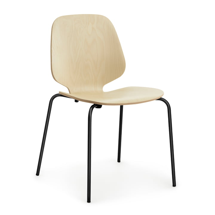 My Chair by Normann Copenhagen in steel black / birch