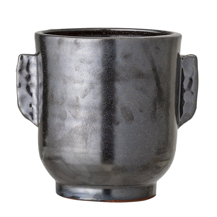 Terracotta flowerpot from Bloomingville, Ø 18 x H 20 cm in black